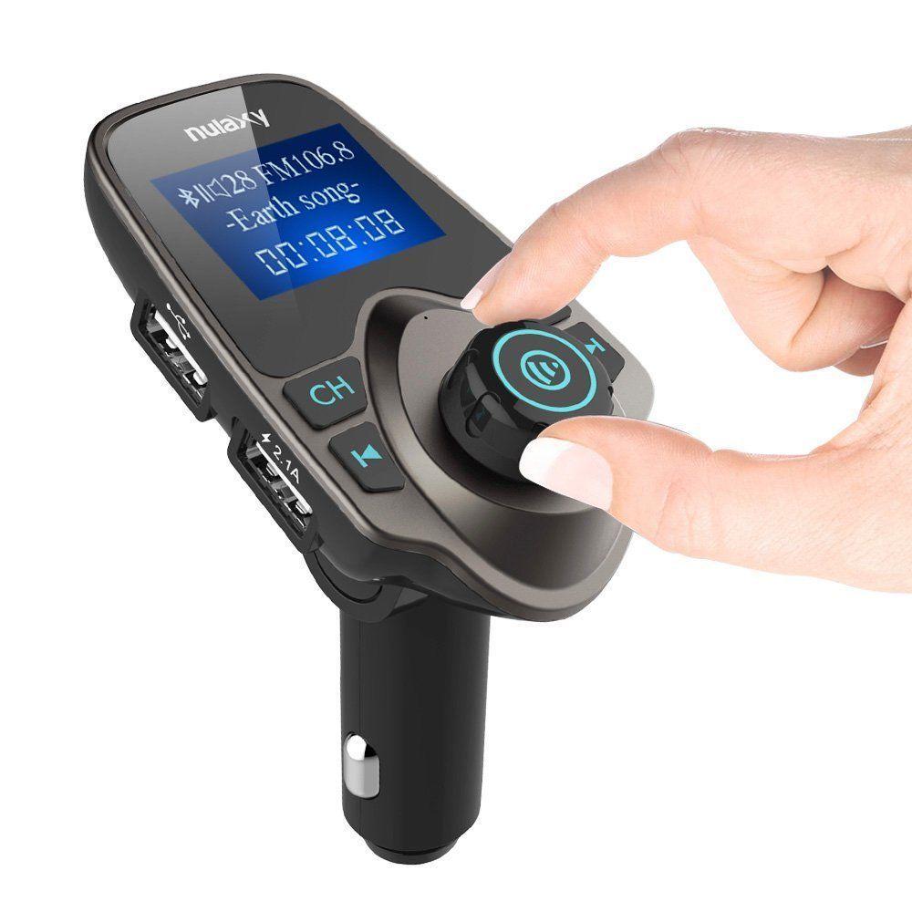 Nulaxy Wireless InCar Bluetooth FM Transmitter Radio