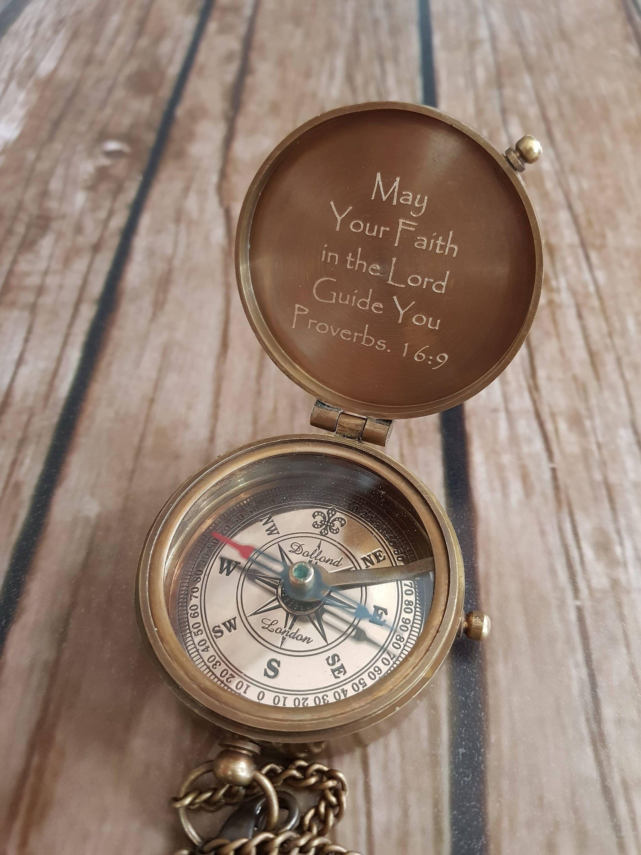 Compass engraved compass baptism gift baptism compass