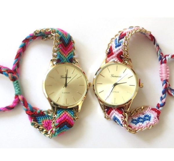 colors braided geneva fashion product ladies watch quartz thread handmade bracelet detail watches new
