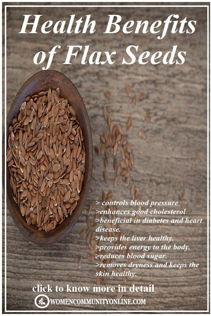 Health Benefits of Flax Seeds   Flax seed benefits, Health ...