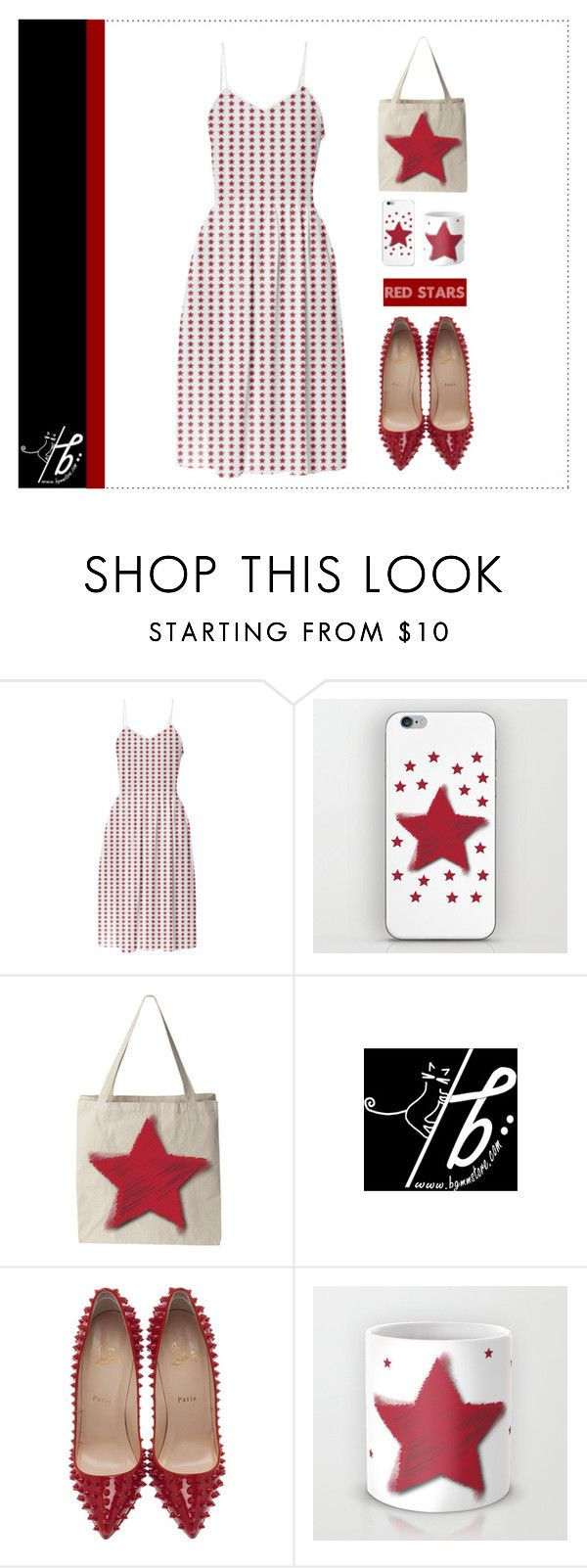 """Red Stars ★"" by bgmmstore ❤ liked on Polyvore featuring Christian Louboutin"
