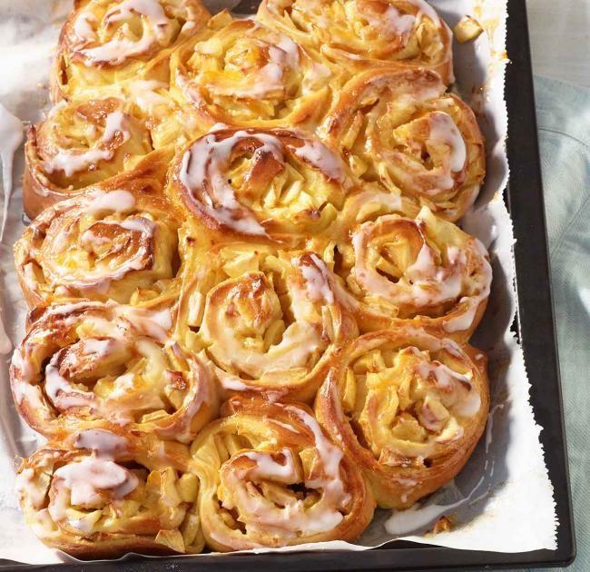 Photo of Apfelschnecken vom Blech Rezept