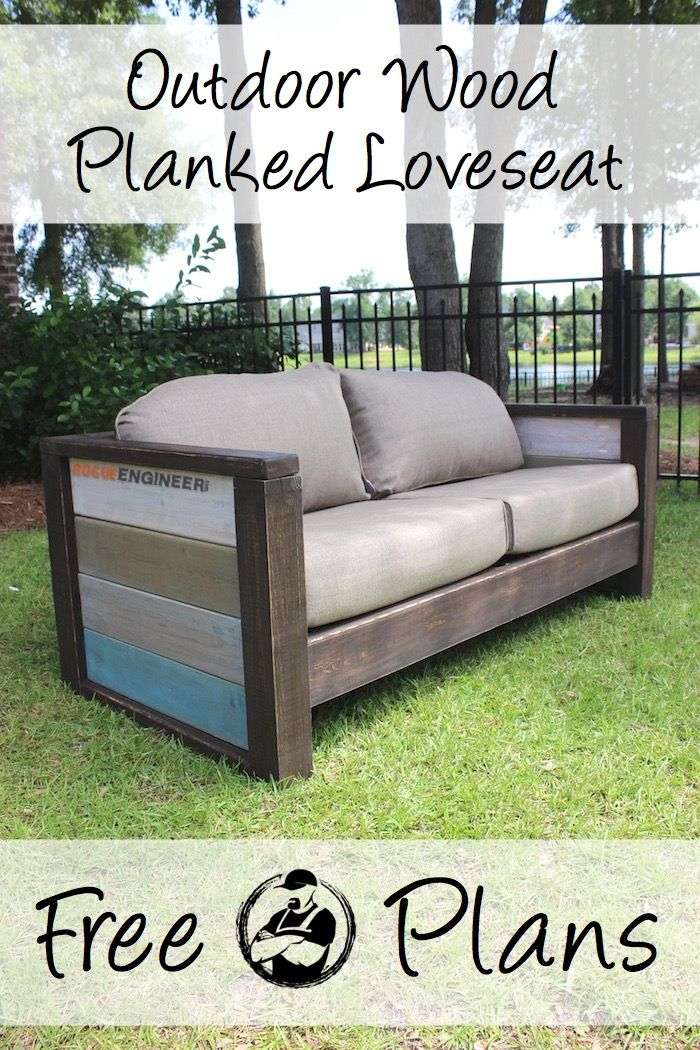free plans } outdoor wood plank loveseat | pallets | meubels, meubel