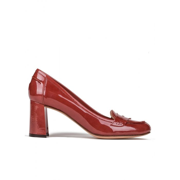 Medio Pinterest Tacón Carmín Zapatos De Mujer En Charol Calzado BEA8Oqw