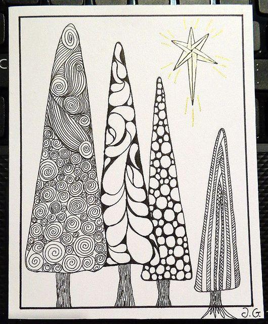 Christmas card 4 (2013): Christmas trees   Christmas ...