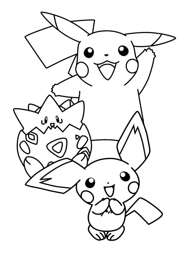 Pichu Is Born Coloring Page Color Luna Pokemon Coloring Pages Pokemon Coloring Cartoon Coloring Pages