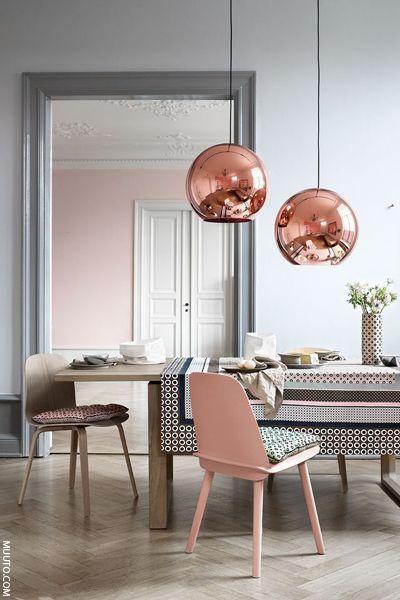 Grey U0026 Pink Interiors