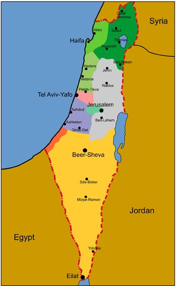 the negev on map of israel - Google Search | Israel | Pinterest ...