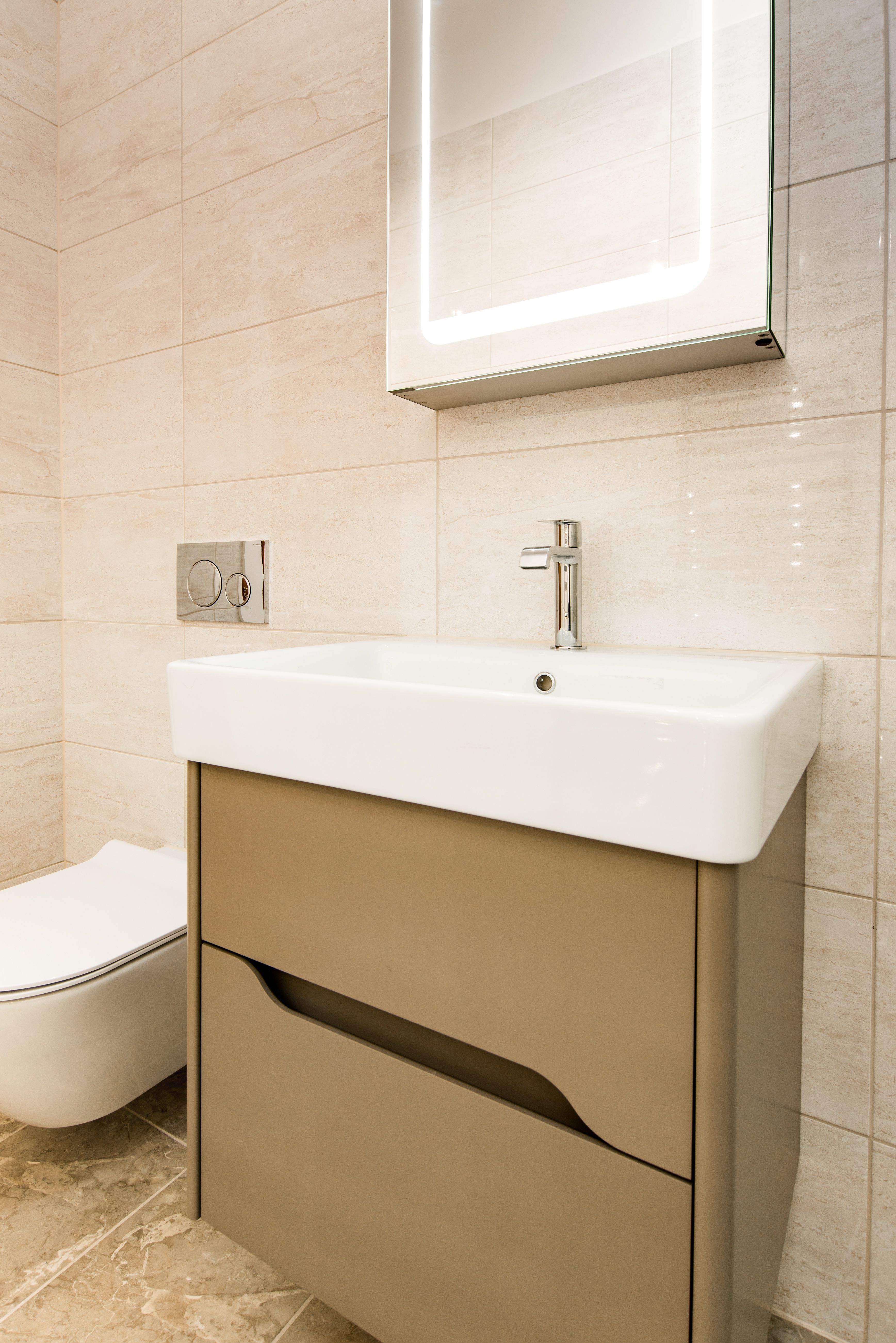 En Suite Shower Room In Goudhurst, Kent Featuring Gsi Vanity Unit