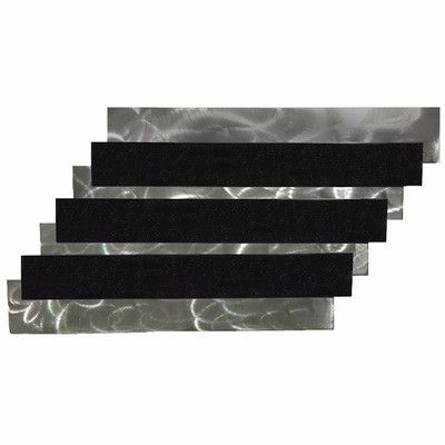 7055 Inc Stairs Wall Décor Finish: Metallic Black