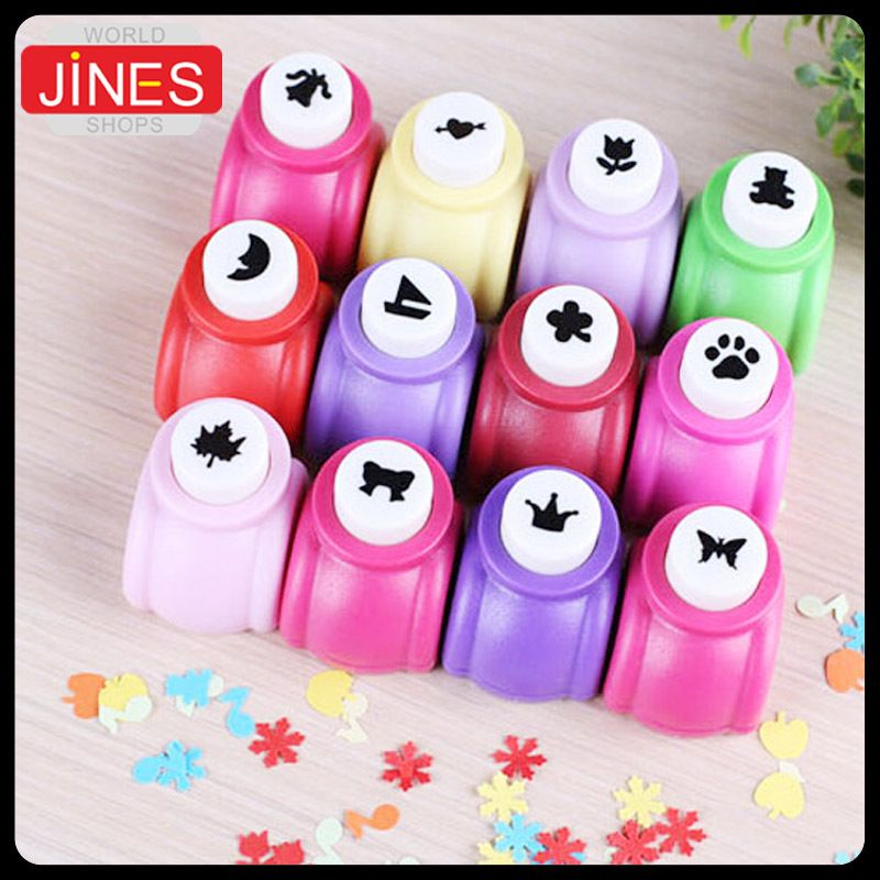 10 Pcslot Circle Flower Punch Diy Craft Hole Punch Puncher Kids