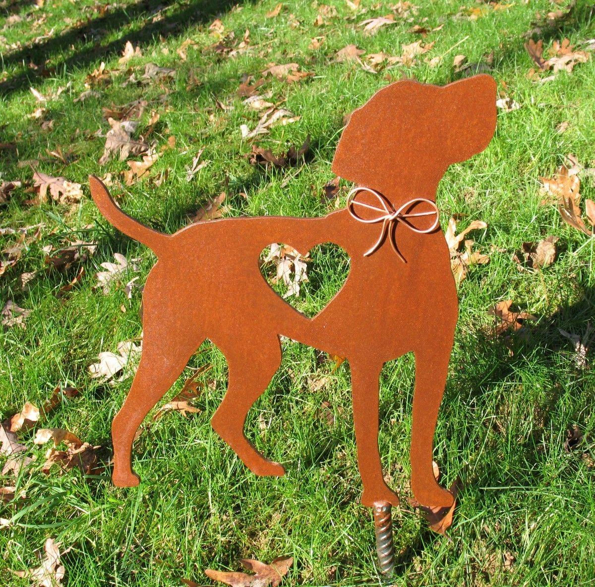 Vizsla Dog Garden Stake   Metal Yard Art   Metal Garden Art   Pet Memorial