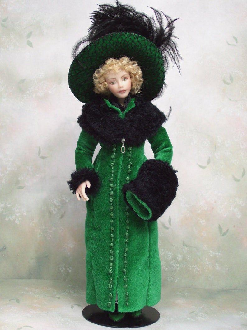 1 12th Scale Dollhouse Miniature Porcelain Edwardian Era Young Etsy Cold Porcelain Jewelry Porcelain Dolls For Sale Dolls