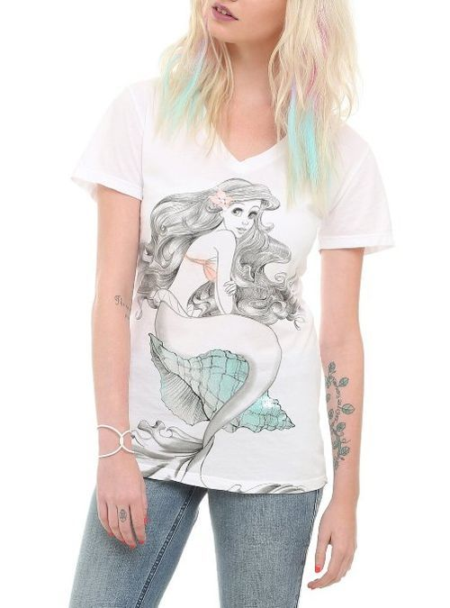 Amazon.com: Disney The Little Mermaid Ariel Shell Girls T-Shirt: Clothing on imgfave