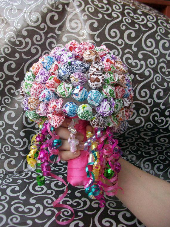 Dum Dum Lollipop Handheld Candy Bouquet Suck By JessieRaeCrochet 2000