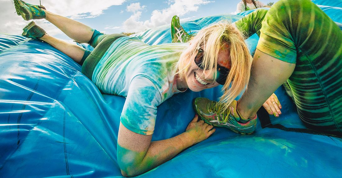 BRIGHTON RACECOURSE Obstacle color run 30th April 2016 £33 before 10th March