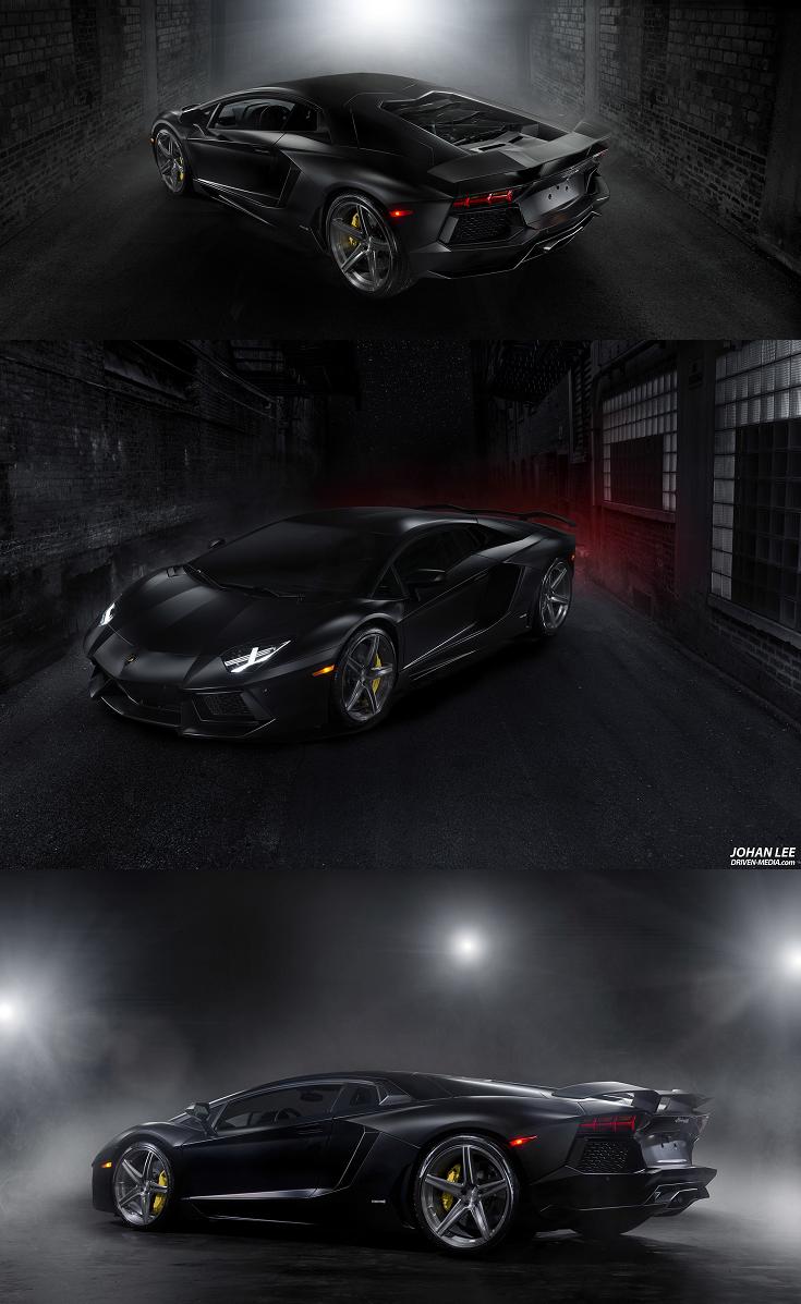 Endlessly Powerful Lamborghini Aventador Featuring Matte Black Body Wrap