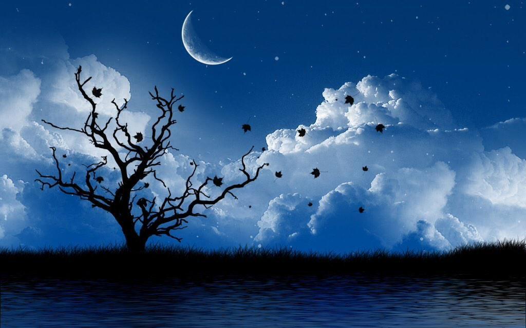 Dee W On Twitter Night Landscape Nature Wallpaper Gothic Landscape Beautiful night scenery wallpaper hd