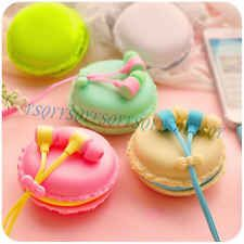 In-Ear 3.5mm Earphone Headset with Cute Macaron Bread Storage For Phone PC MP3/4