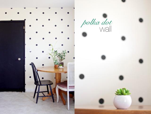 Parete A Pois Fai Da Te : Ruffles and stuff our diy polka dot wall craft room