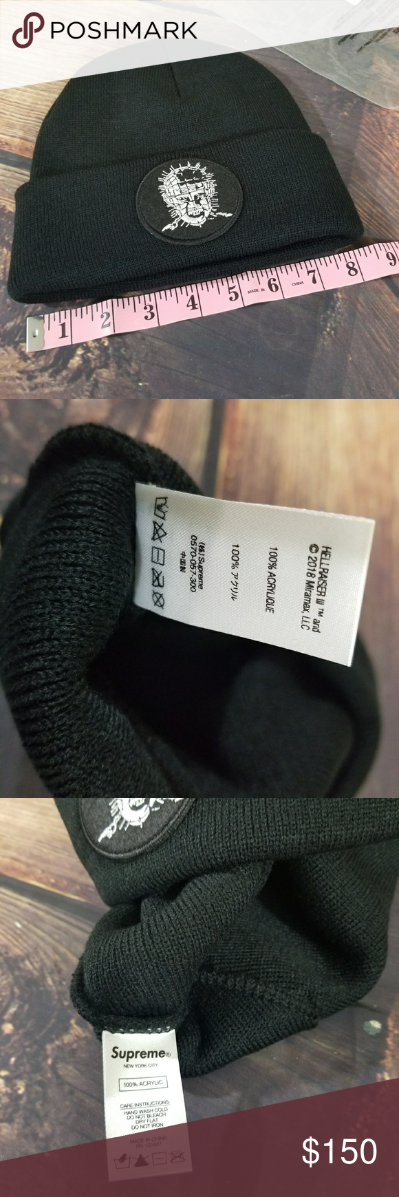 7f6f30998df16 Supreme Hellraiser Beanie NEW IN BAG One Size Hellraiser Pinhead Black  Beanie SS18 by Supreme