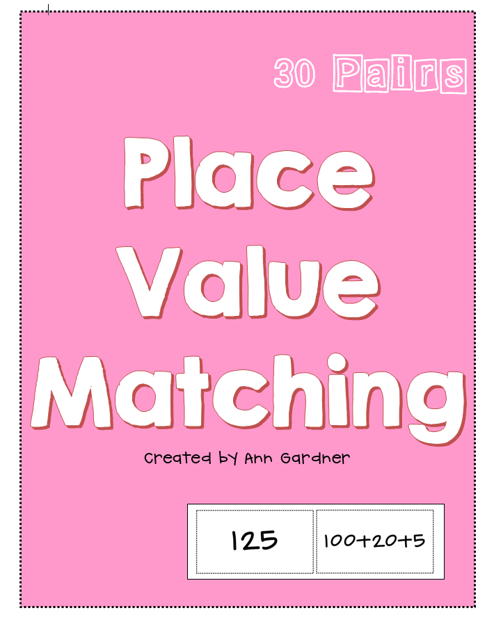 Place Value Matchingmemory Game Expanded Form Standard Form
