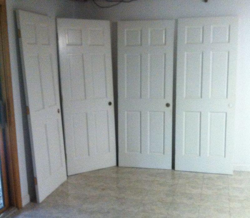 Set4 White Six Panel Hw Ready Interior Doors Ea 39wx1 38 Thick X
