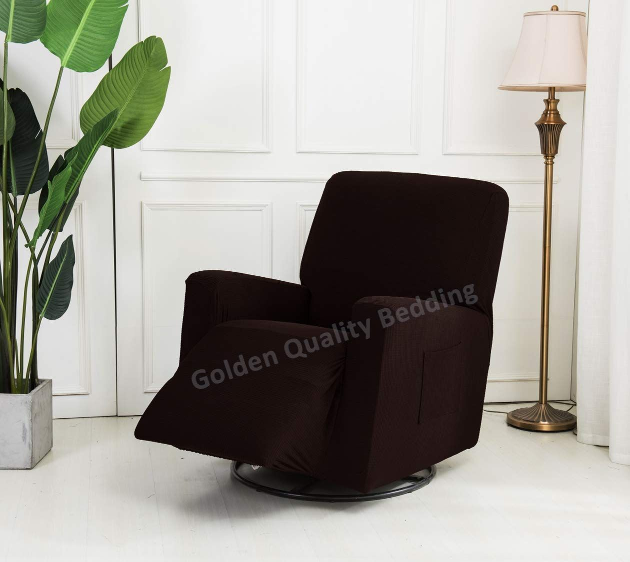 Stretch To Fit One Piece Lazy Boy Chair Recliner Slipcover Stretch Fit Furniture Chair Recliner Cover With 3 Foam P Recliner Cover Slipcovers Fitted Furniture