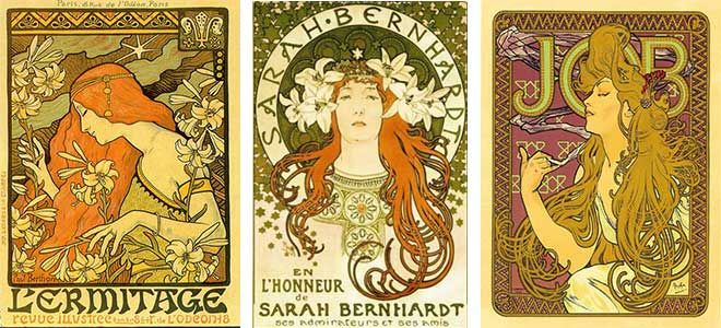 art nouveau style graphic design which graphic design style is