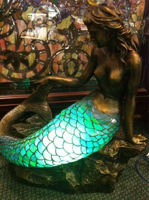 Mermaid Lamp Stained Gl In 2019 Bathroom