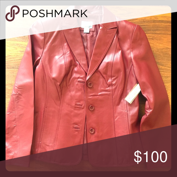 Leather 5th East Jacket in Scarlet NWT Jackets