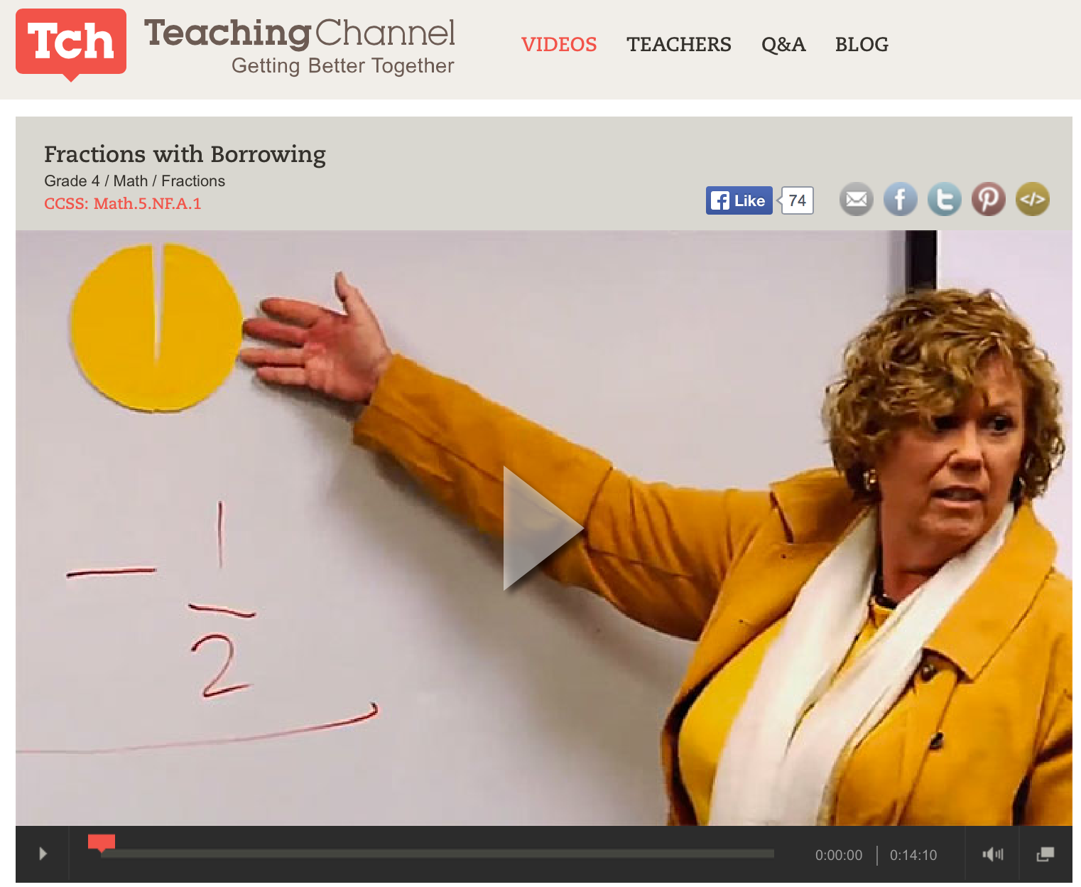 Video From The Teaching Channel Showing How To Borrow When