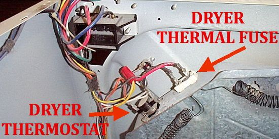 Dryer Not Heating Check Dryer Thermal Fuse On Back With Images
