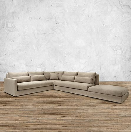 Pollack 121 Upholstered Four Piece Left Arm Sectional in Dave