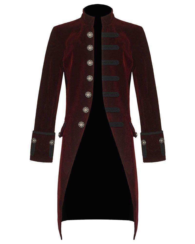 Devil Fashion Womens Coat Jacket Red Velvet Gothic Steampunk Aristocrat Regency