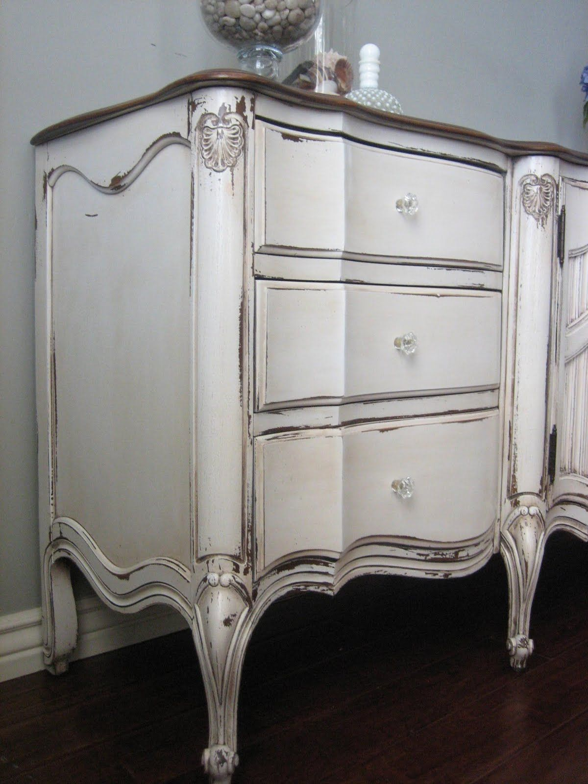 french distressed furniture. SOLD ~ Antiqued White French Provincial Dresser. Chippy Weathered Distressed And Glazed Finish - Furniture C