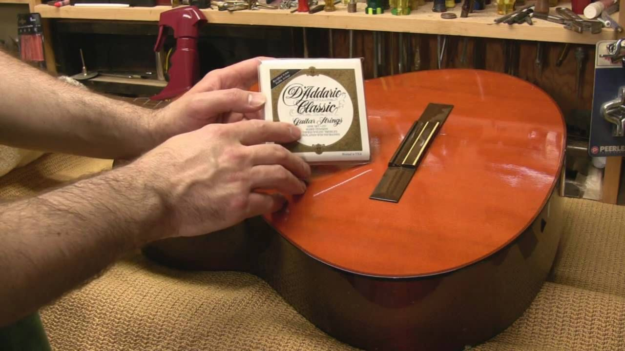 How to Change Strings on a Classical Guitar Classical
