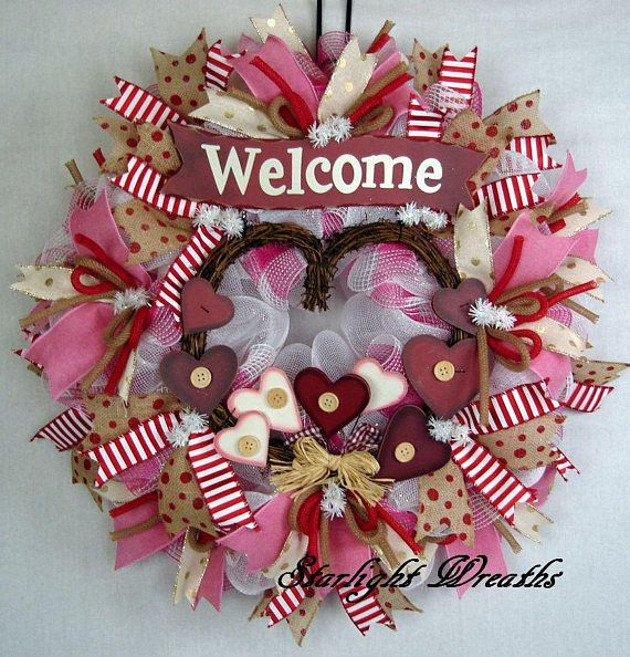 welcome valentine mesh wreath country mesh wreath valentine valentine tulle wreath