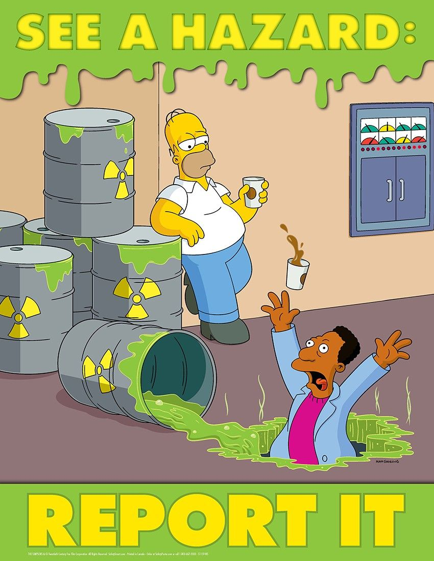 See a hazard report it simpsons poster kitchen hazards for 5 kitchen safety hazards