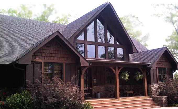 A frame mountain house plan with porches and photos appalachia