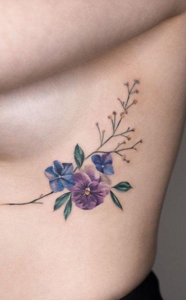 Violet Flower Tattoo Designs: 30 Delicate Flower Tattoo Ideas