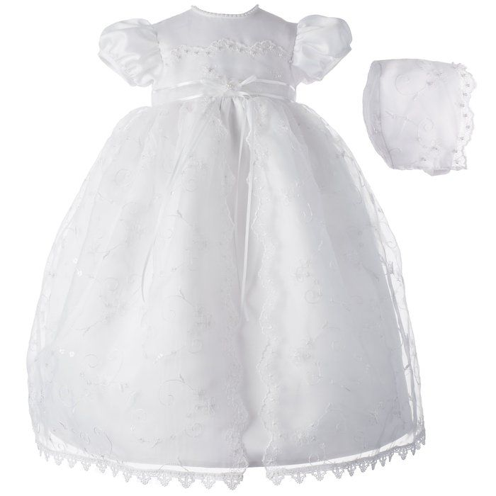 Lauren Madison Baby girl Christening Gown, White, 6-9 Months ...