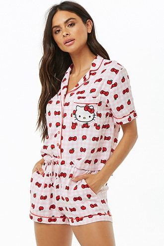 11bdc51e9 HELLO KITTY cute pajamas ^^Click pic for details and price!^^  #affiliatelink #hellokitty #pjs #hk #sanrio #cute #pajamas