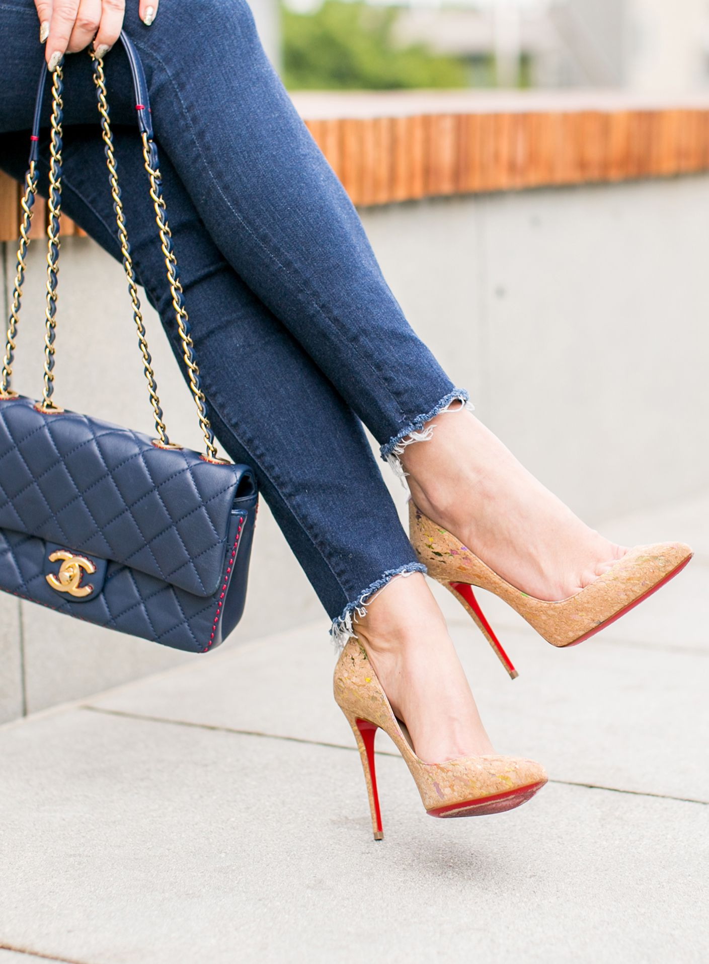 19f62887e92 Doing Day to Night in a Pinstripe Blazer and Jeans | Shoe Crush ...