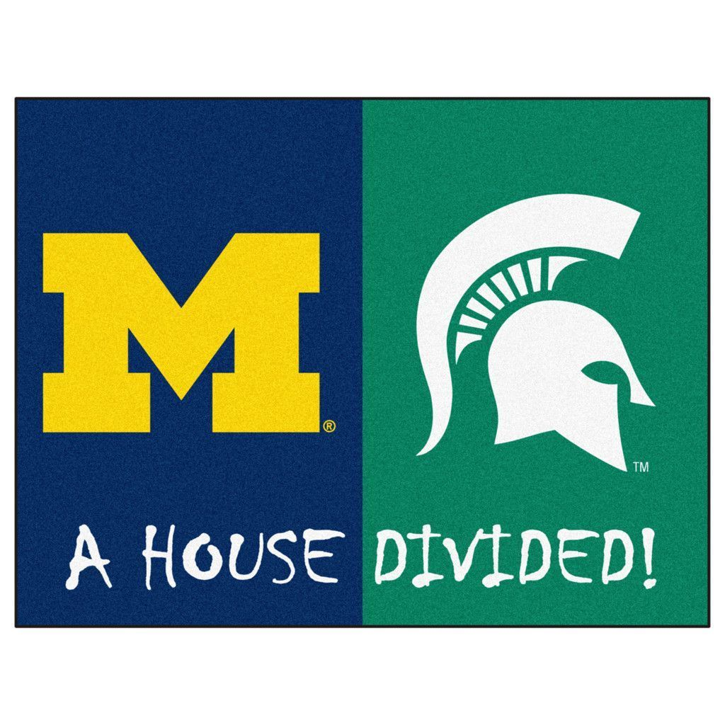 Michigan Wolverines vs Michigan State Spartans Rivalry Rug | Chicas