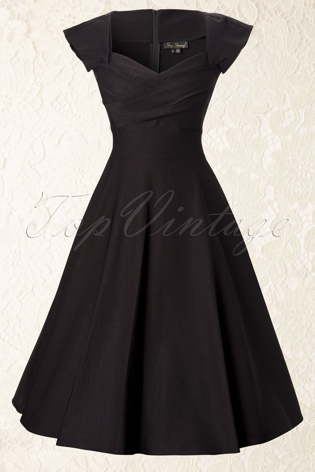 50s Mad Men Swing Dress in Black | Mad men, Swings and Mad