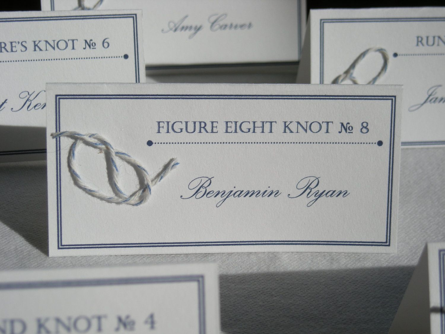 tie the knot wedding invitations etsy%0A Tie the Knot Nautical Place Cards by FarahAlease on Etsy I love these