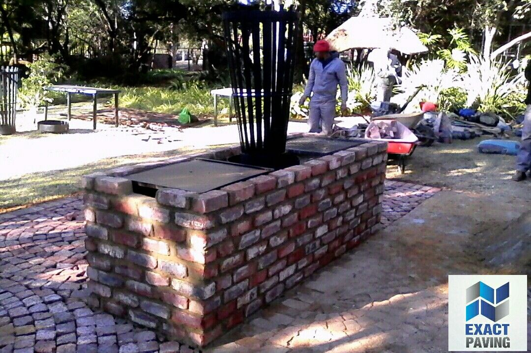 Braai With Boma Built And Paved By Exact Paving Exact Paving