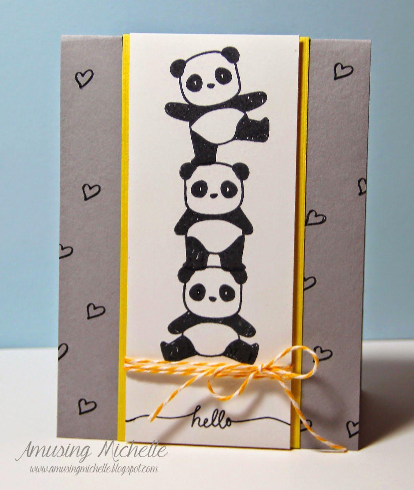 Amusing Michelle Fusion Acrobat Pandas Card Inspiration