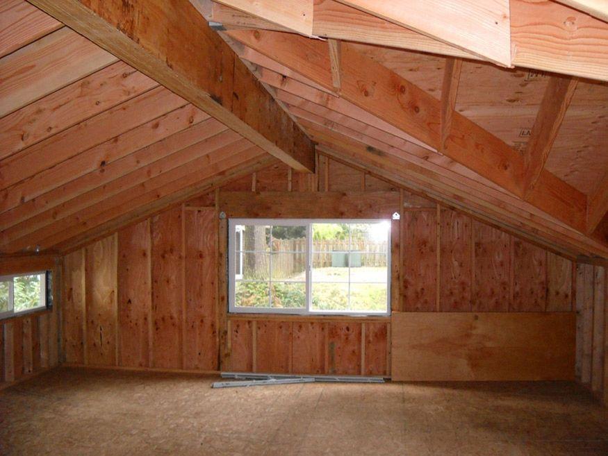 Laminated Ridge Beam In Garage Loft Garage Loft Garage